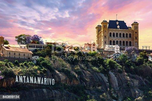panorama of Antananarivo or Tananarive, short Tana,  Poor capital and largest city in Madagascar, Madagasikara republic.