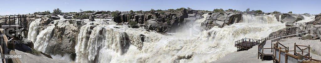 Panorama of Augrabies Waterfall royalty-free stock photo