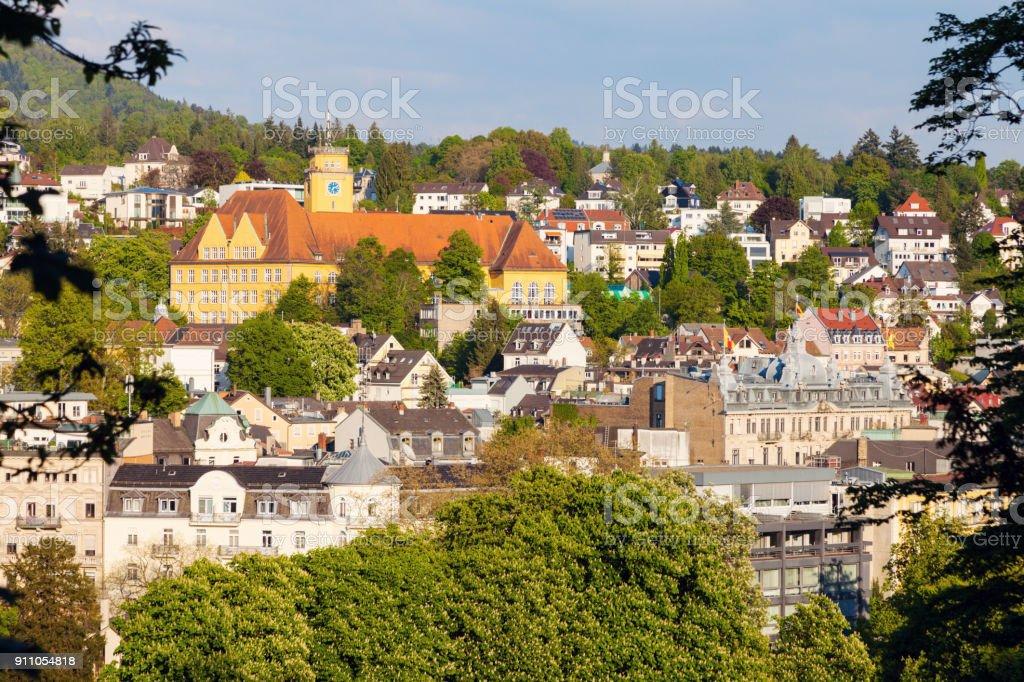 Panorama of Baden Baden stock photo