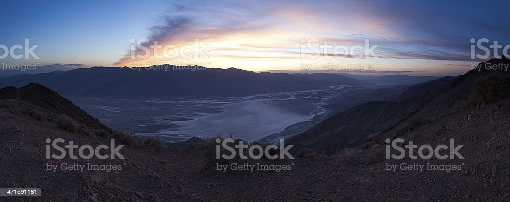 Panorama of Badwater Basin, Death Valley royalty-free stock photo