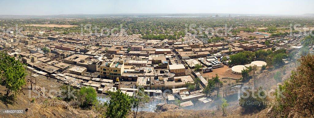 Panorama of Bamako the city, Mali stock photo