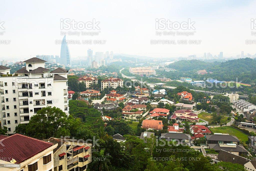 Panorama of Bangsar district in Kuala Lumpur royalty-free stock photo