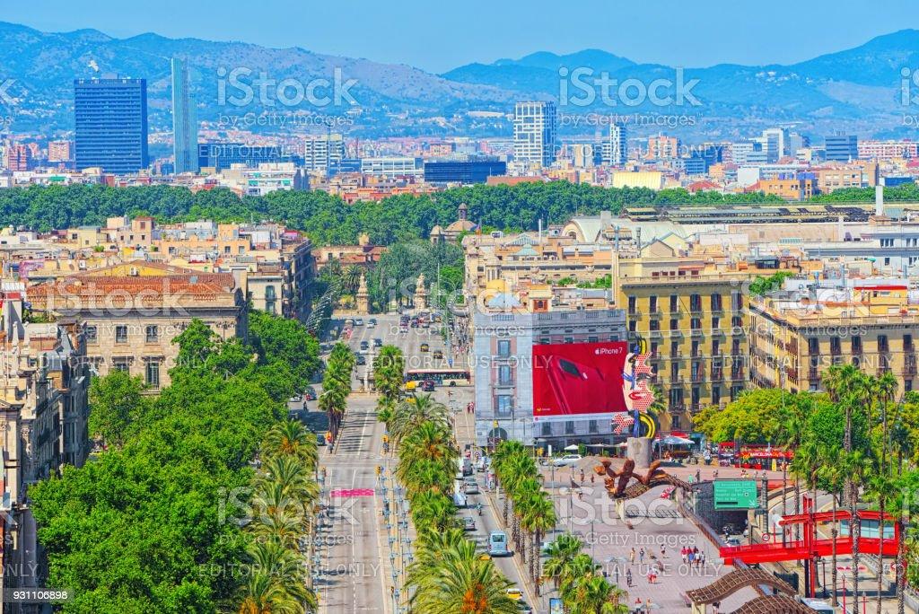 Christopher Columbus Anıtı Barcelona'dan Panoraması. İspanya. - Royalty-free Barselona - İspanya Stok görsel
