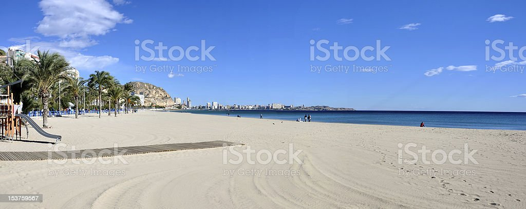 Panorama der Strand in Alicante, Spanien – Foto