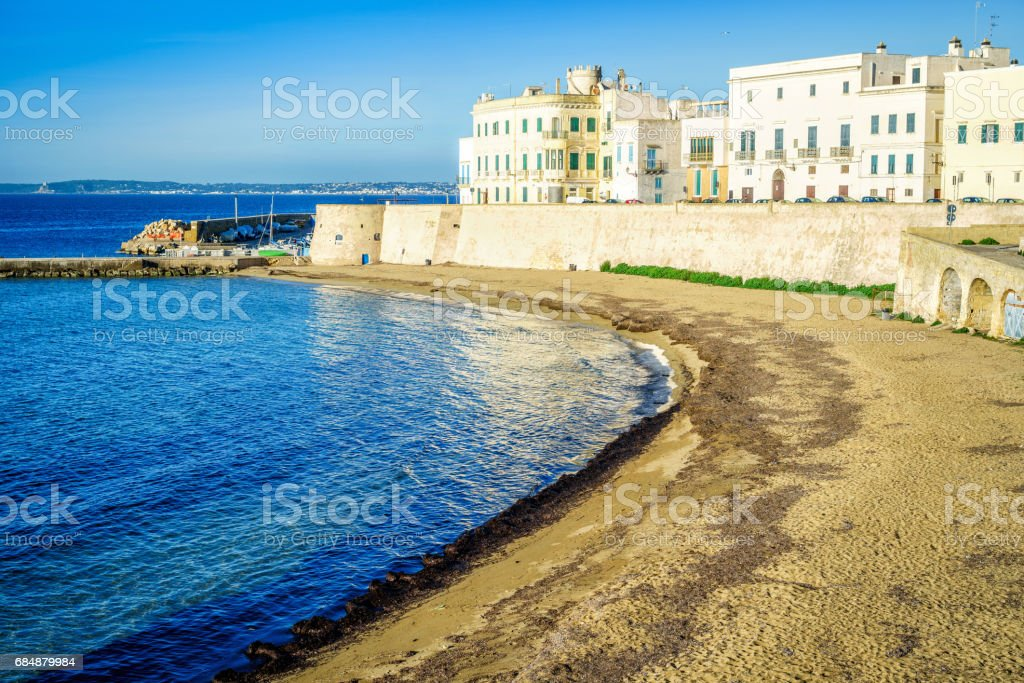 Panorama of beautiful Gallipoli, Italy Lizenzfreies stock-foto