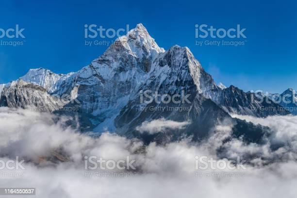 Photo of Panorama of beautiful  Mount Ama Dablam in  Himalayas, Nepal