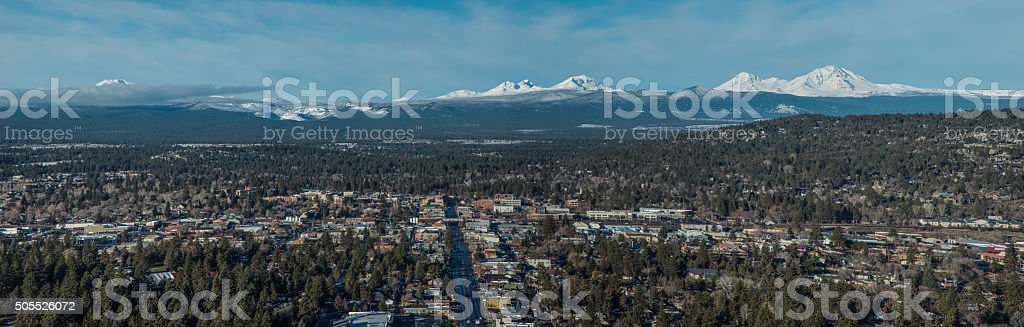Panorama of Bend OR stock photo