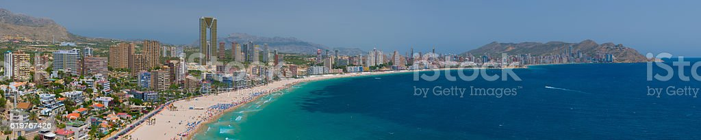 Panorama of Benidorm stock photo