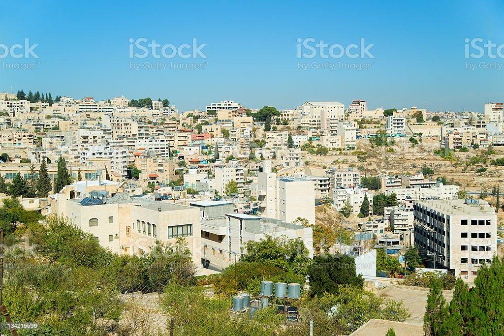 Panorama of Bethlehem, Palestine, Israel royalty-free stock photo