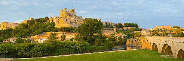 Panorama of Beziers stock photo
