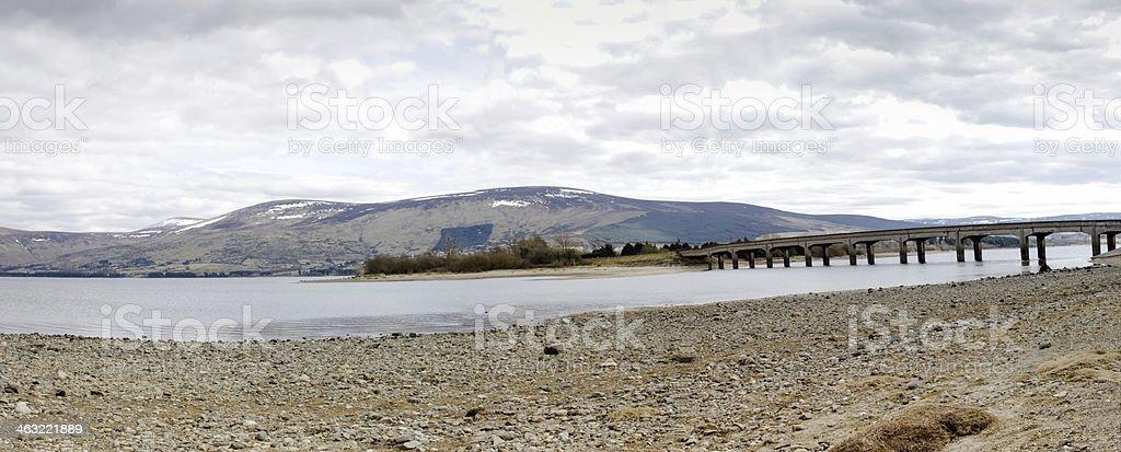 panorama of Blessington Lakes County Dublin Ireland in winter stock photo