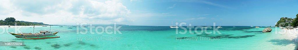 Panorama of Boracay royalty-free stock photo