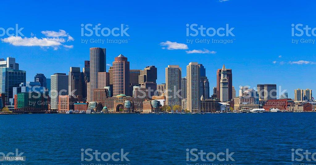 Panorama of Boston, Massachusetts stock photo