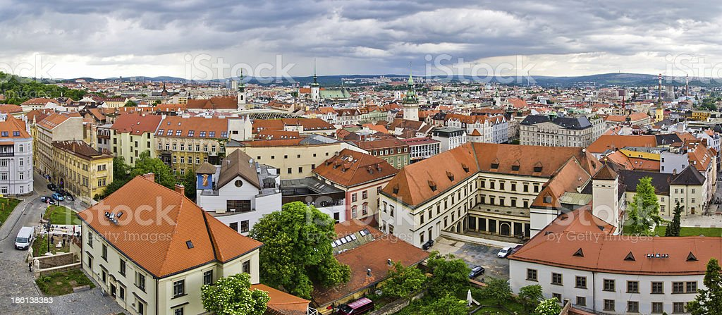 Panorama of Brno, Czech Republic stock photo
