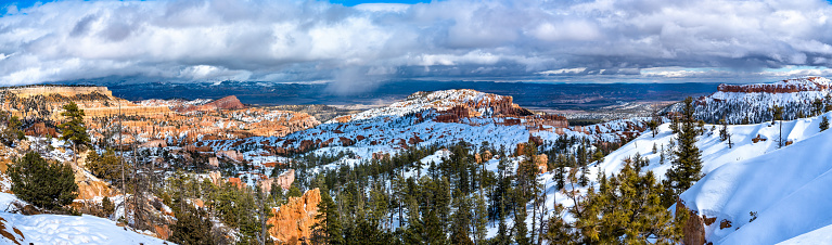 Panorama of Bryce Canyon in early spring - Utah, the United States