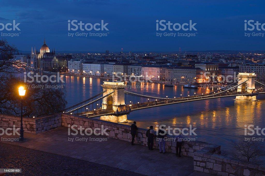 Panorama of Budapest royalty-free stock photo