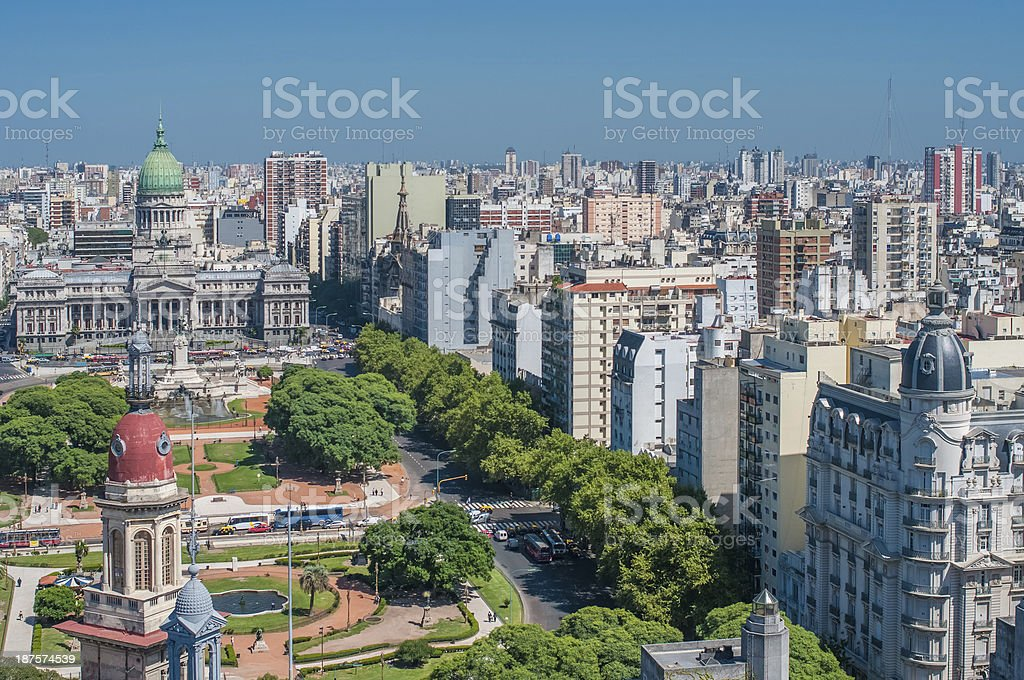 Panorama of Buenos Aires, Argentina stock photo