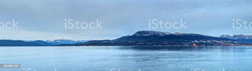 panorama of Burrard Inlet, Vancouver, Canada stock photo