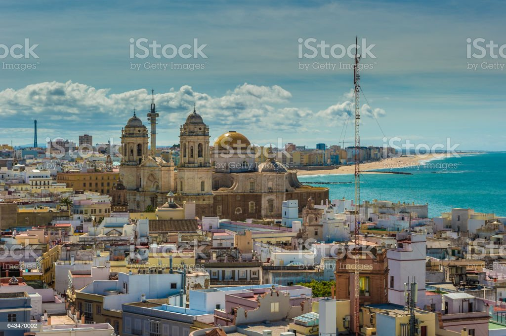 Panorama of Cadiz, Spain stock photo