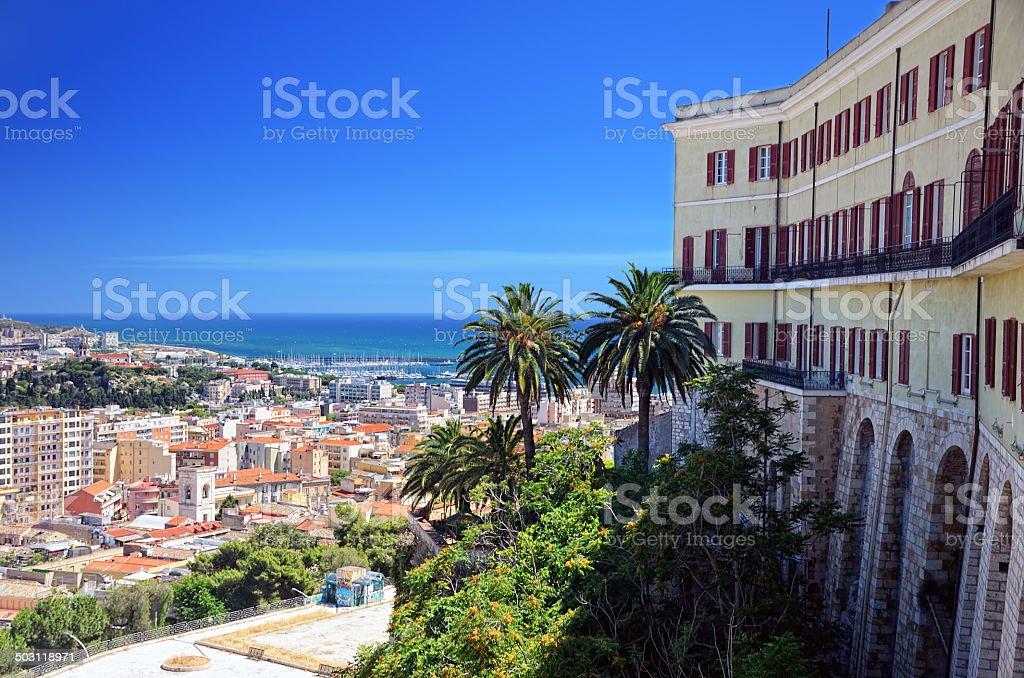 Panorama of Cagliari stock photo