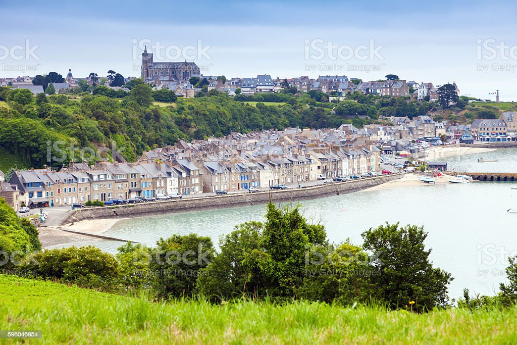 Panorama of Cancale royalty-free stock photo