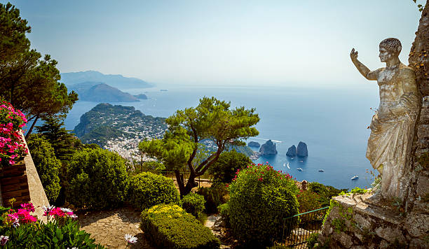 Panorama of Capri island from Mount Solaro – Foto
