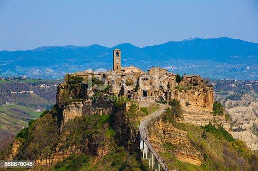 Panorama of Civita di Bagnoregio, Lazio Italy