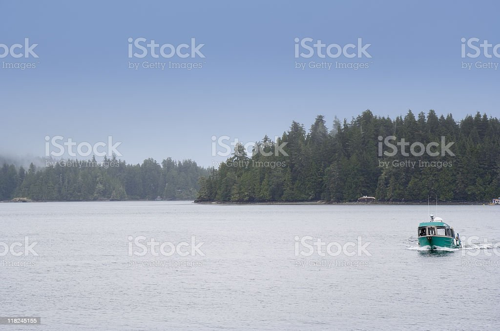 Panorama of Clayoquot Sound UNESCO Biosphere Reserve royalty-free stock photo