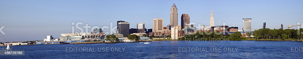 Panorama of Cleveland stock photo