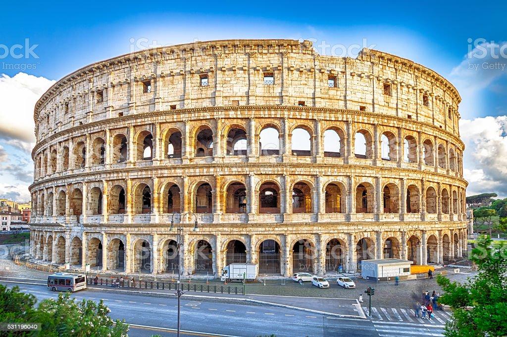 Panorama of Colosseo stock photo