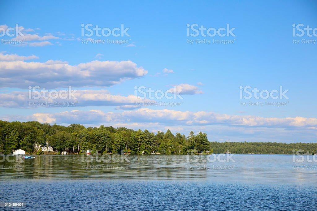Panorama of Cottage Country, Muskoka stock photo