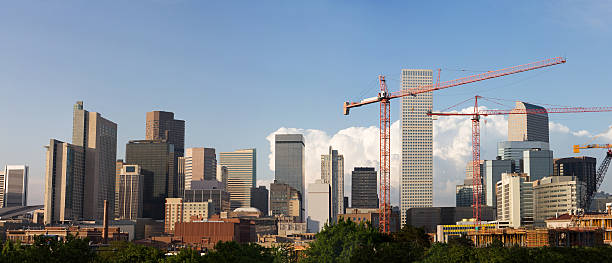 Panorama of Denver Skyline stock photo