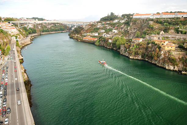panorama von Fluss Douro, Porto – Foto