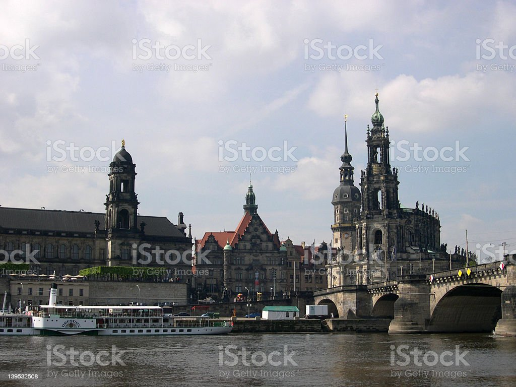 Panorama of Dresden, Germany royalty-free stock photo