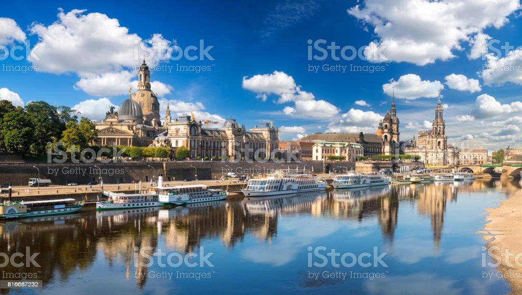 Panorama von Dresden, Deutschland - Lizenzfrei Alt Stock-Foto