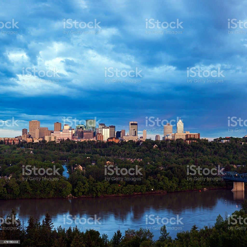 Panorama of Edmonton stock photo