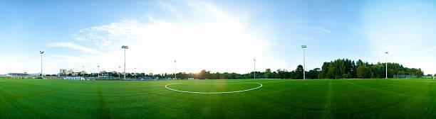 panorama von football-Feld – Foto