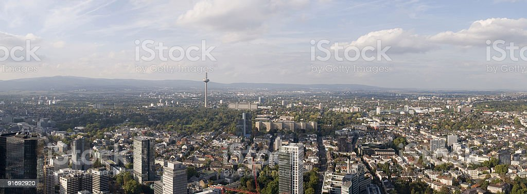 Panorama of Frankfurt (Germany royalty-free stock photo