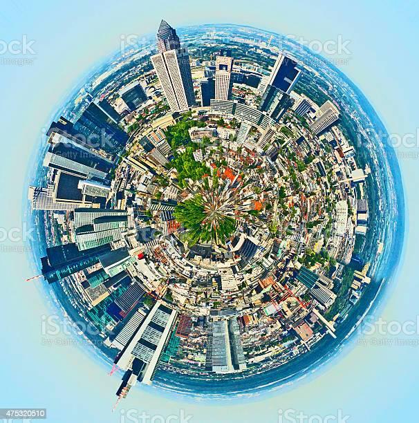 Panorama Von Frankfurt Stockfoto und mehr Bilder von 2015