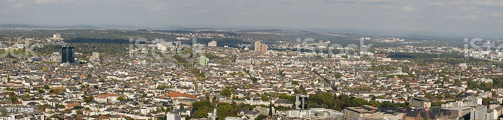 Panorama of Frankfurt (Germany) stock photo
