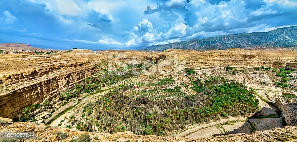 istock Panorama of Ghoufi Canyon in Algeria 1002057844