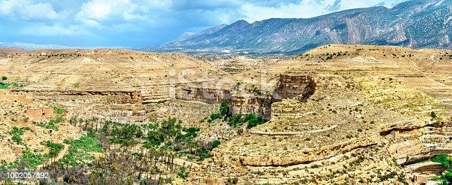 istock Panorama of Ghoufi Canyon in Algeria 1002057892