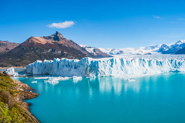 Panorama of glacier Perito Moreno in Patagonia Panorama of glacier Perito Moreno in Patagonia, South America, Autumn Argentina stock pictures, royalty-free photos & images