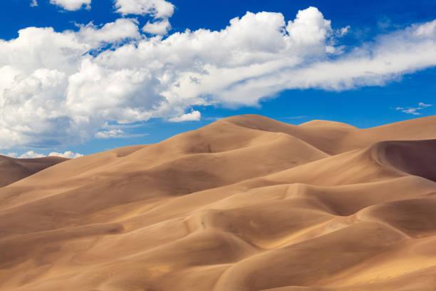 Panorama of Great Sand Dunes NP stock photo