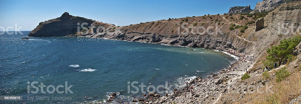 panorama of gulf coastline in crimea royalty-free stock photo