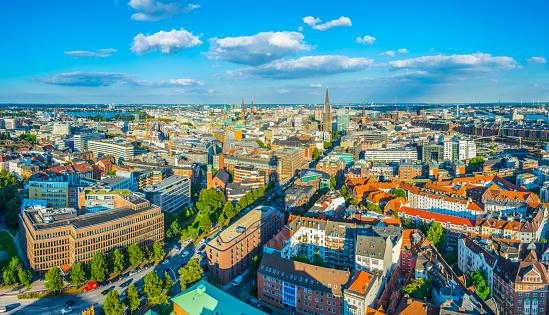 Panorama of Hamburg in Germany
