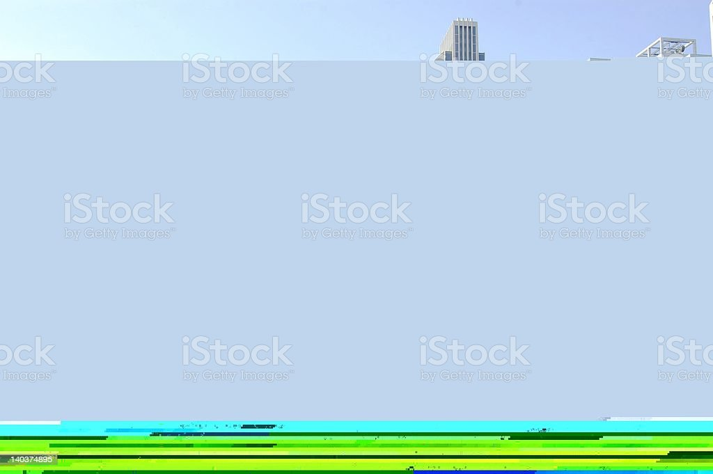 A panorama of Harrisburg with a gray and lime green screen stock photo