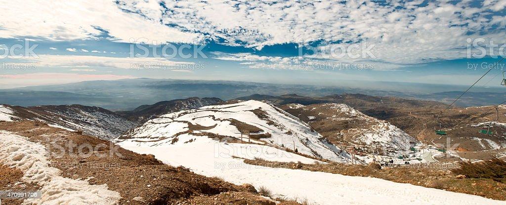 Panorama of Hermon . stock photo