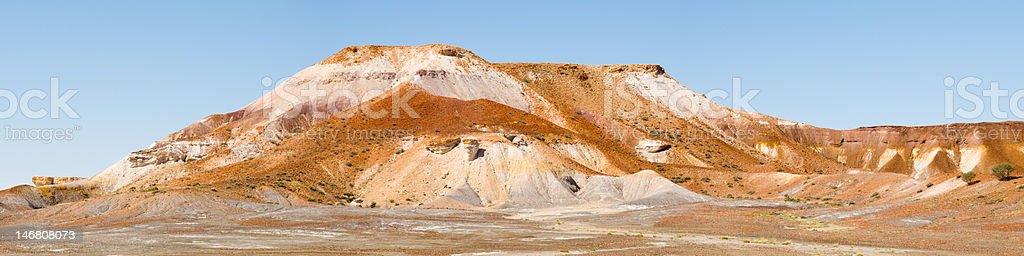 Panorama of Hill in Painted Desert, Australia stock photo