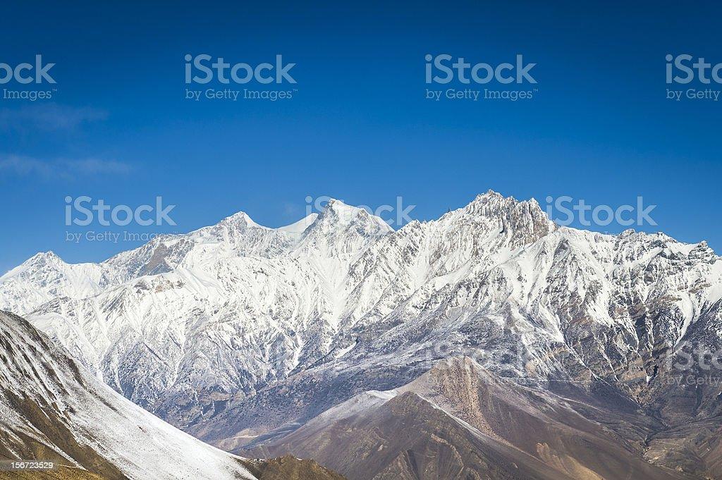 Panorama of Himalaya mountains royalty-free stock photo